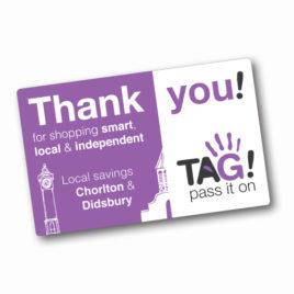TAG! PASS IT ON REWARD CARD 2019