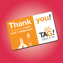 TAG! PASS IT ON REWARD CARD